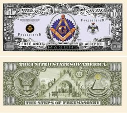 FREEMASON - MASONIC MILLION DOLLAR BILL