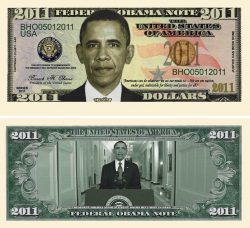 Barack Obama 2011 Commemorative Dollar Bill