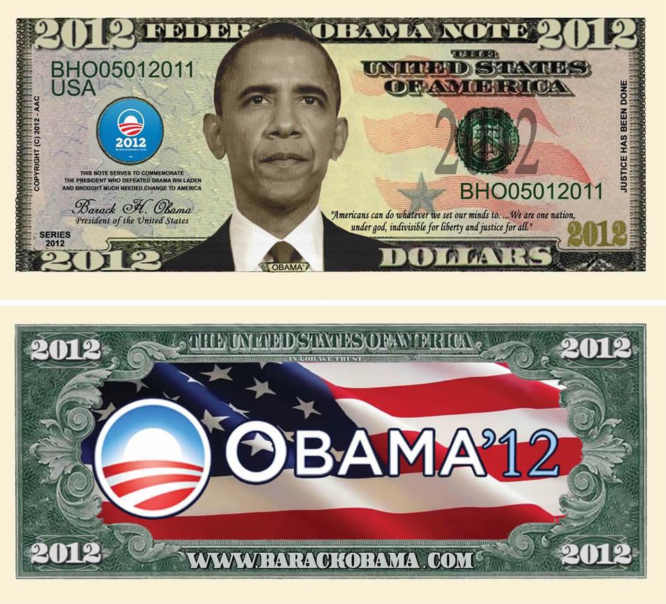 Barack Obama 2012 Federal Obama Note