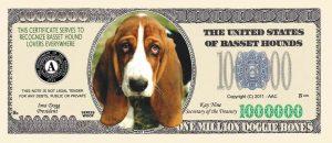 Basset Hound Million Dollar Bill