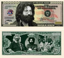 Jerry Garcia Grateful Dead Million Dollar Bill