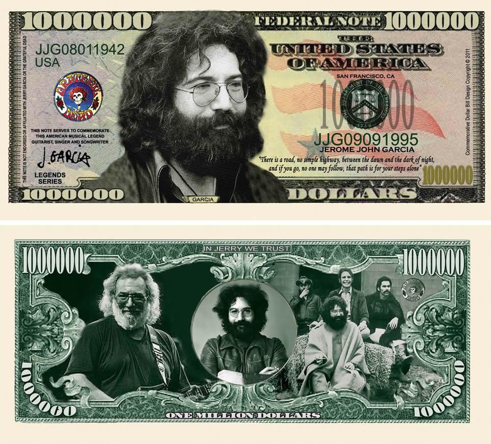 Jerry Garcia Grateful Dead Million Dollar Bill