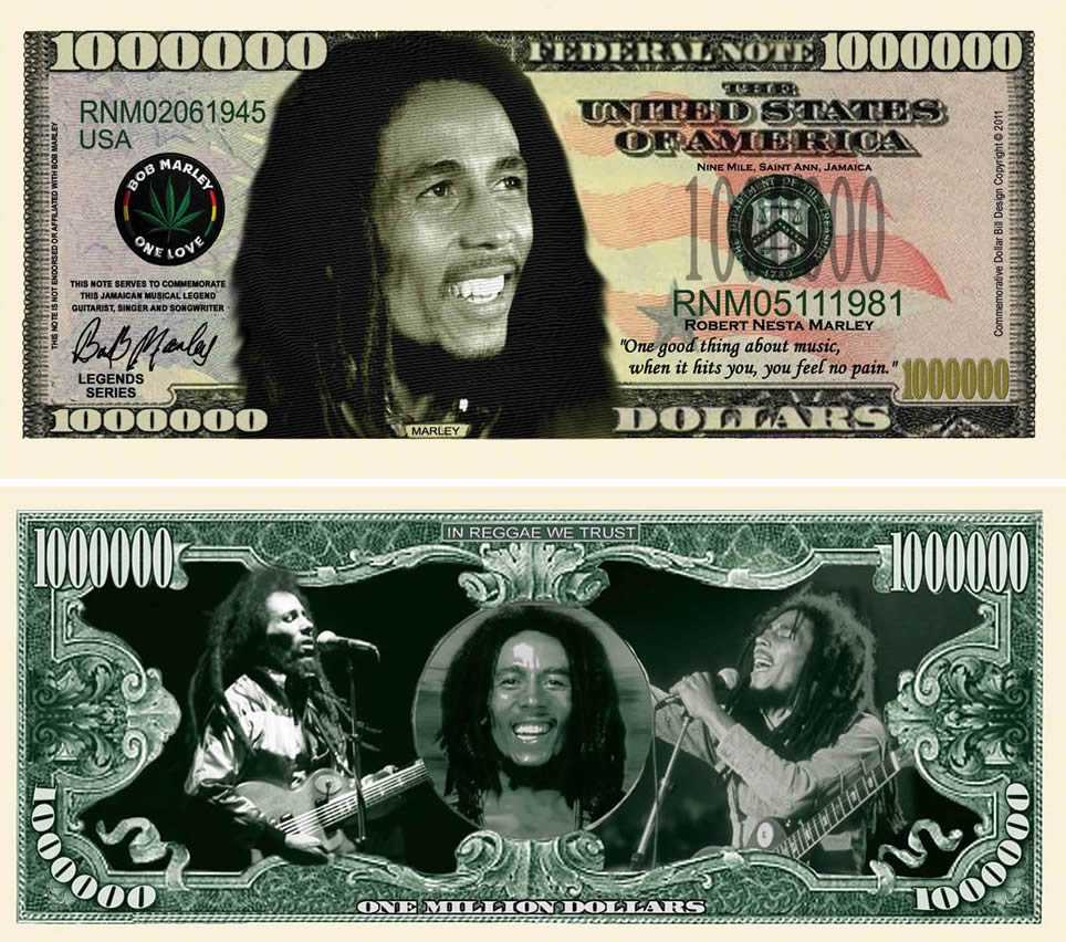 Bob Marley Million Dollar Bill