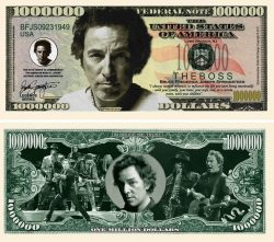 Bruce Springsteen Million Dollar Bill