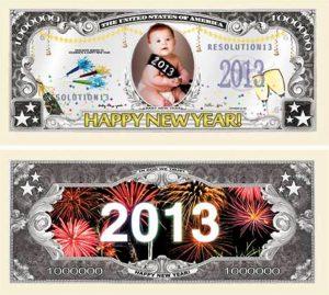 New Years 2013 Million Dollar Bill