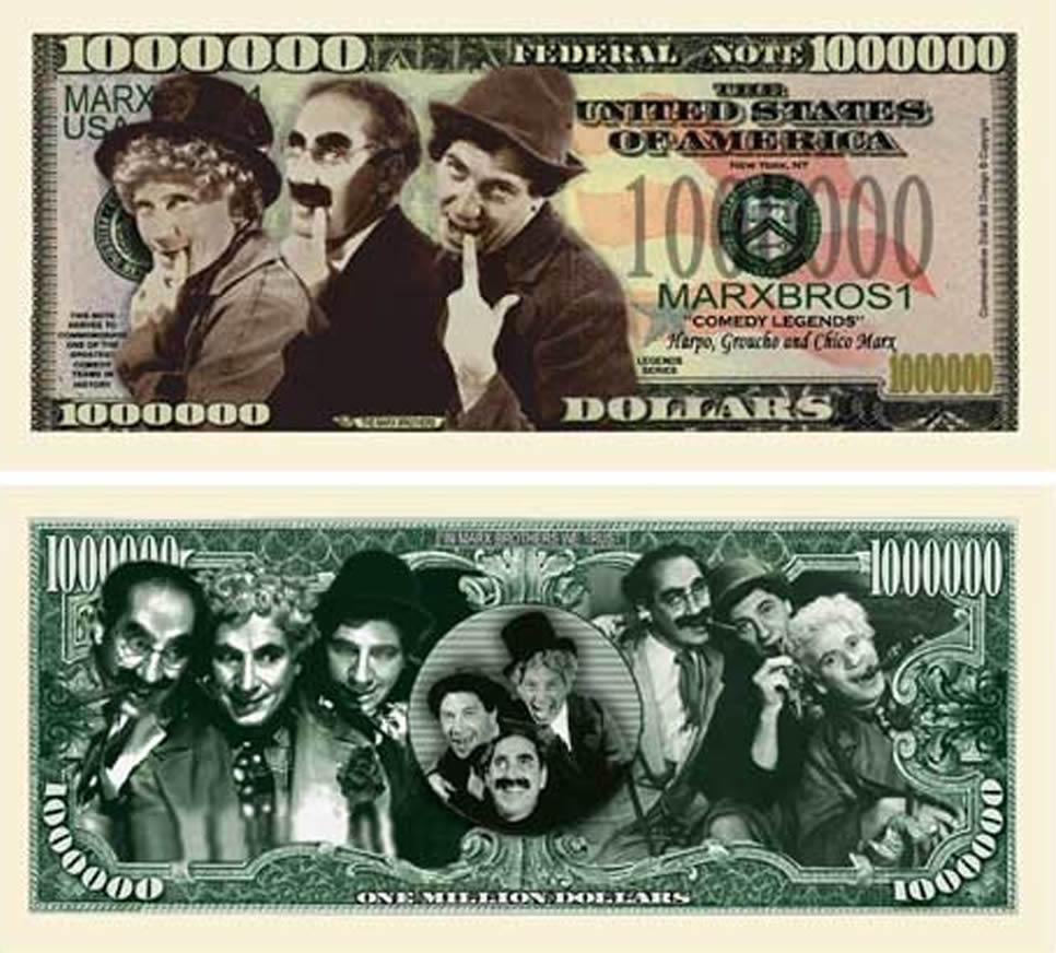 Marx Brothers Million Dollar Bill
