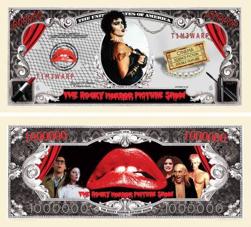 Rocky Horror Picture Show Million Dollar Bill
