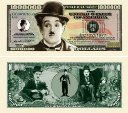 Charlie Chaplin Million Dollar Bill