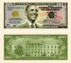 Barack Obama 2013 Commemorative Dollar Bill