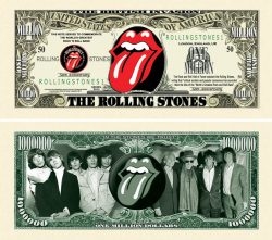 Rolling Stones 50th Anniversary Million Dollar Bill
