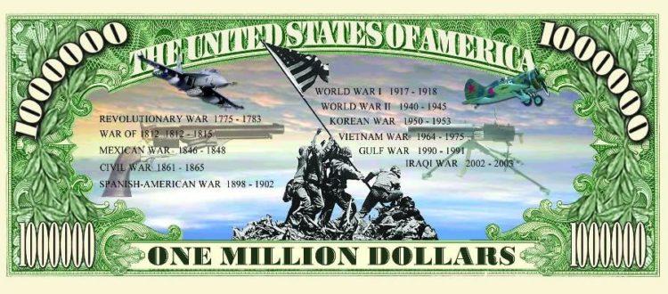 patriotic fake money