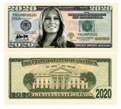 Melania Trump 2020 Re-Election Presidential Dollar Bill